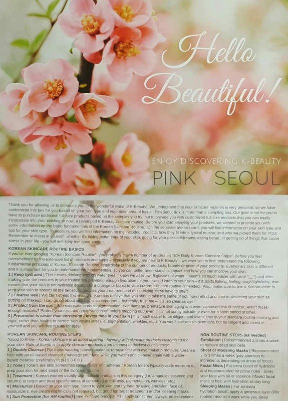 K-beauty routine