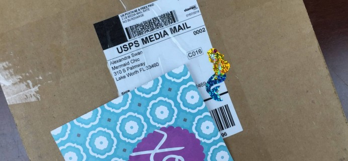 Mermaid Mail July 2016 Subscription Box Review