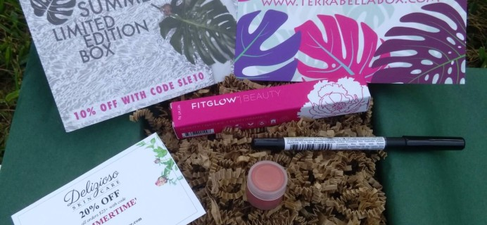 Terra Bella – The Makeup Edit Subscription Box Review + Coupon – July 2016