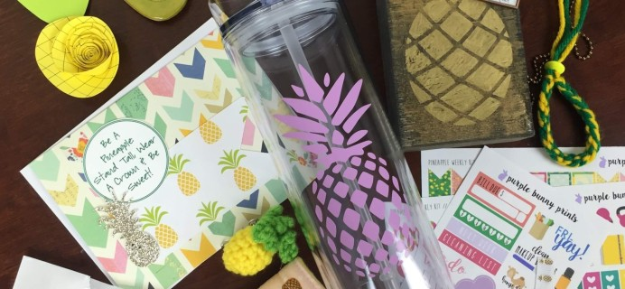 The Crafty Mail July 2016 Subscription Box Review – Pineapple Party!