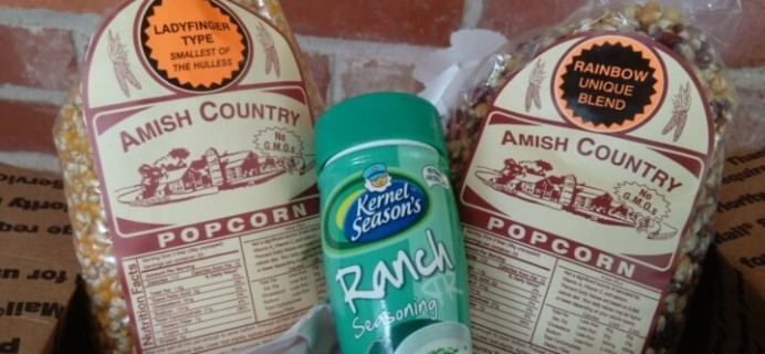 Amish Mart Popcorn of the Month Club Subscription Box Review – July 2016