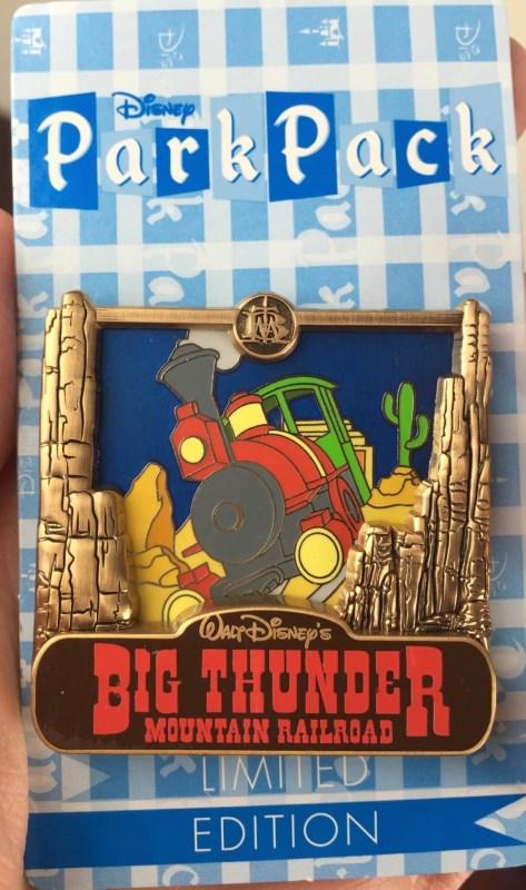 disney park pack pin trading july 2016 big thunder mountain railroad