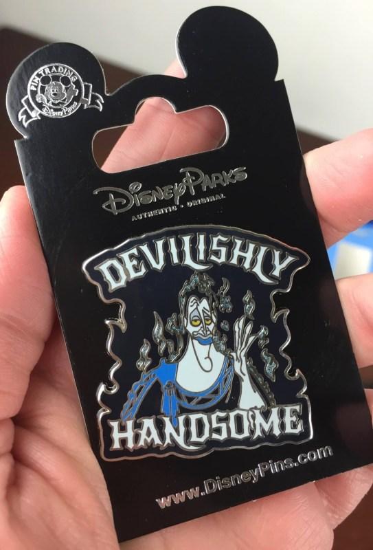 disney park pack pin trading july 2016 hades pin devilishly handsome