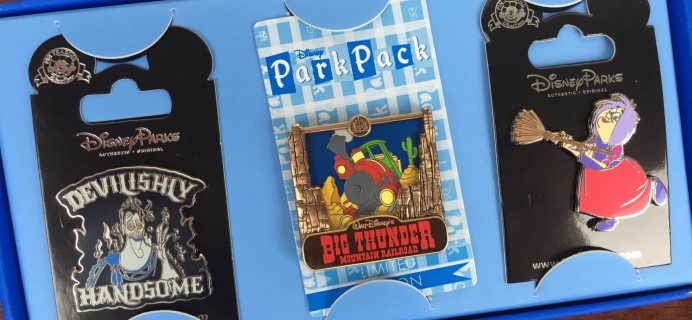 Disney Park Pack July 2016 Subscription Box Review – Pin Trading Edition