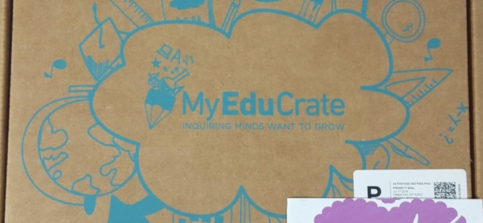MyEduCrate July 2016 Box Review