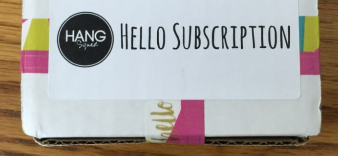 Hang Squad July 2016 Subscription Box Review + Coupon