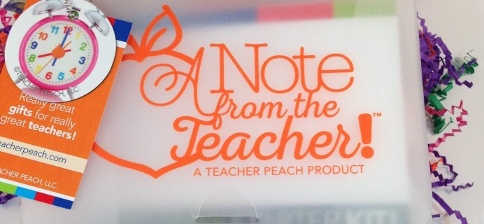 Teacher Peach A Note from the Teacher Subscription Box Review – August 2016 + Starter Kit