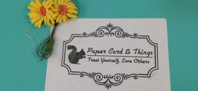 Paper Card & Things July 2016 Subscription Box Review