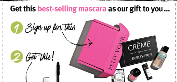New Petit Vour Coupon: Lily Lolo Mascara FREE with Subscription!