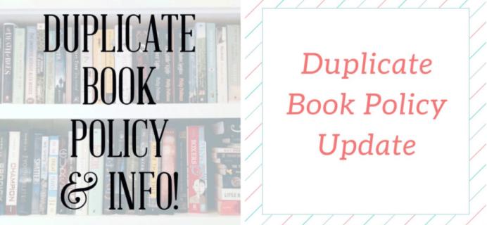 Uppercase Box Duplicate Book Policy Update