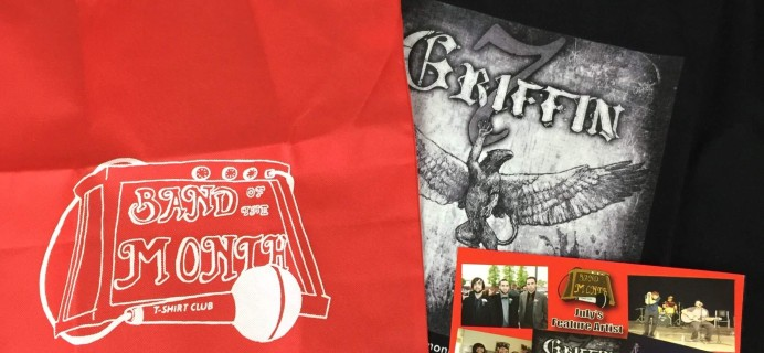Band of the Month T-Shirt Club Subscription Box Review – July 2016