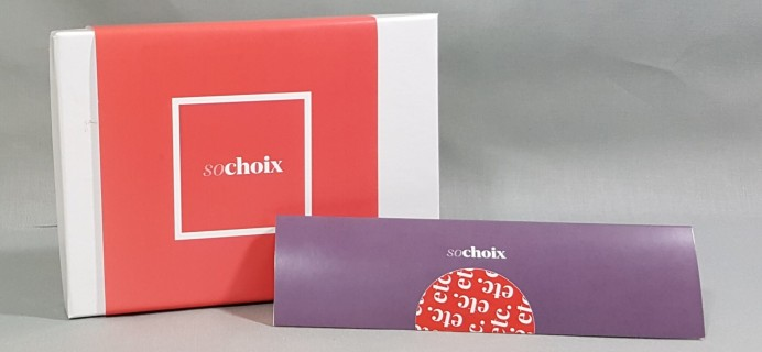 So Choix Sample Subscription Box Review – August 2016