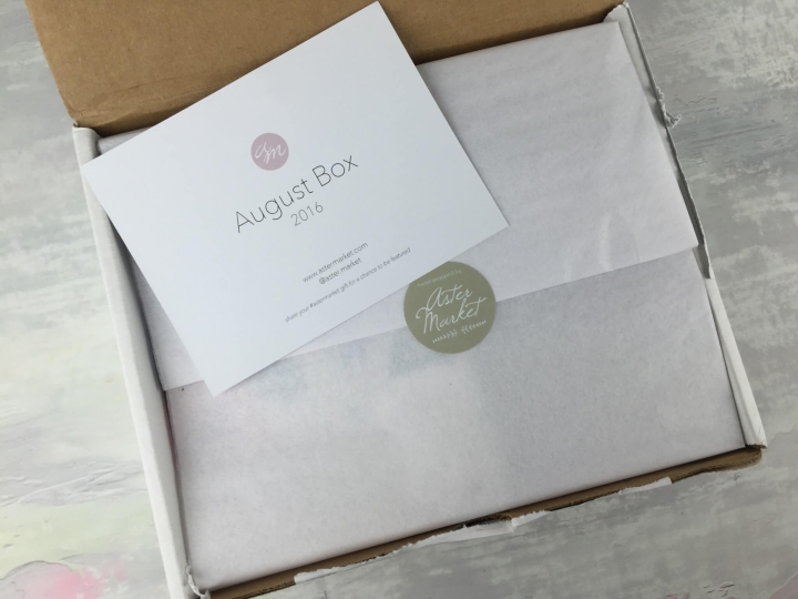 Aster Market August 2016 unboxing