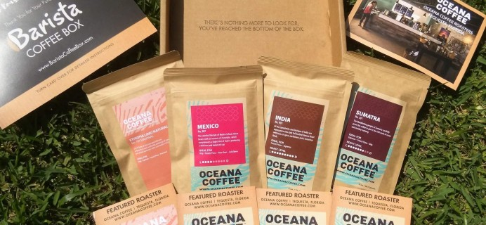 Barista Coffee Subscription Box Review- August 2016