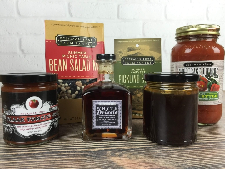 Beekman 1802 Specialty Food Club August 2016 review