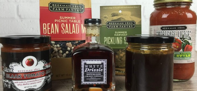 Beekman 1802 Specialty Food Club August 2016 Subscription Box Review