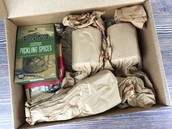 Beekman 1802 Specialty Food Club August 2016 unboxed