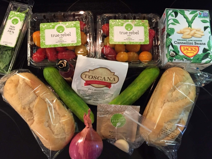 Hello Fresh Vegetarian Box August 2016 (1)