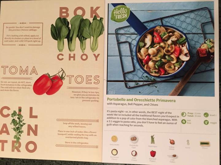 Hello Fresh Veggie Box August 2016 (3)