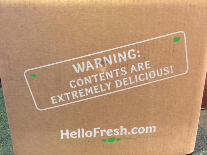 Hello Fresh Veggie Box August 2016 box