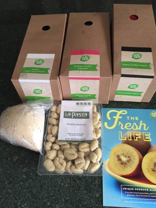 Hello Fresh Veggie Box August 2016 review