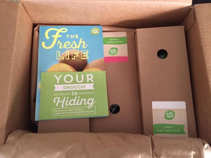 Hello Fresh Veggie Box August 2016 unboxing