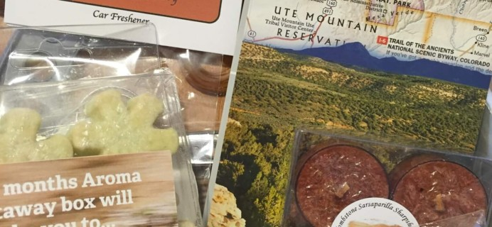 Aroma Getaway August 2016 Subscription Box Review + Coupon!