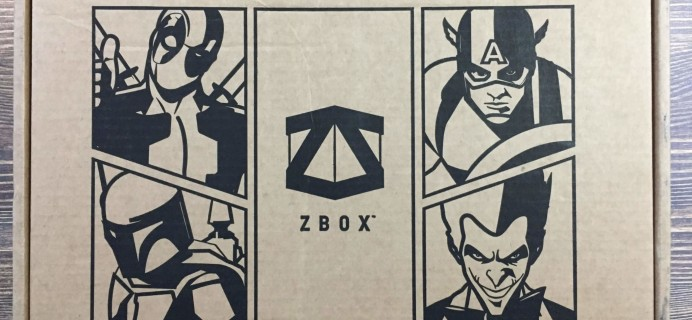 ZBOX August 2016 Subscription Box Review