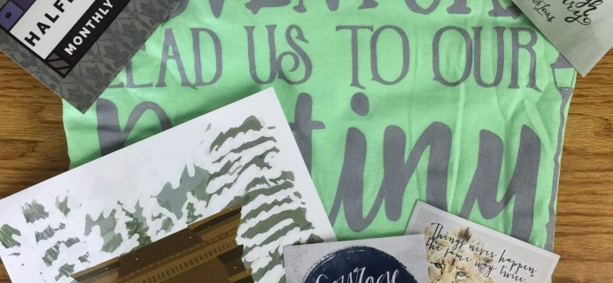 HalfBloodPrints July 2016 Subscription Box Review + Coupon