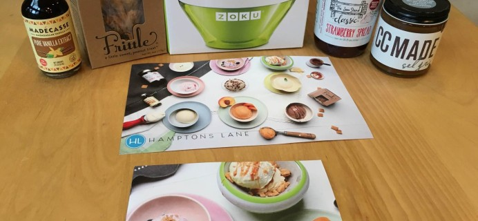 Hamptons Lane Subscription Box Review & Coupon – August 2016 Homemade Ice Cream Box