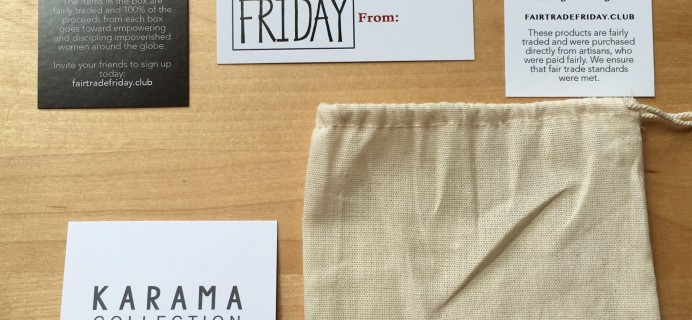 Fair Trade Friday Earring of the Month August 2016 Subscription Box Review