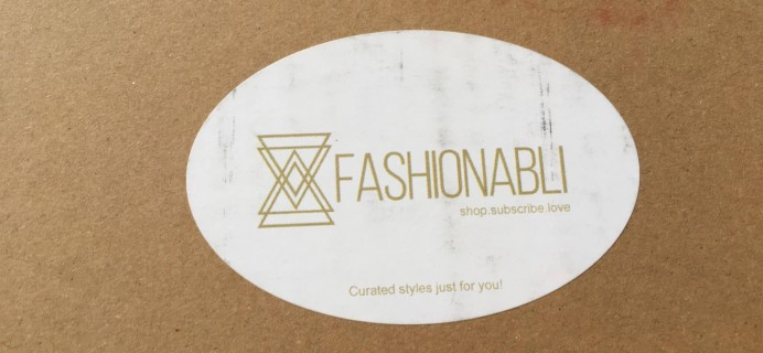 Fashionabli August 2016 Subscription Box Review