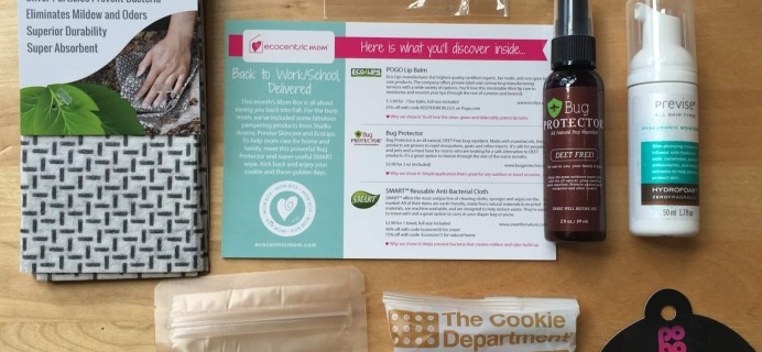 Ecocentric Mom August 2016 Subscription Box Review + Coupon – Mom Box