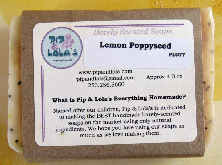 Lemon Poppyseed Soap- Front