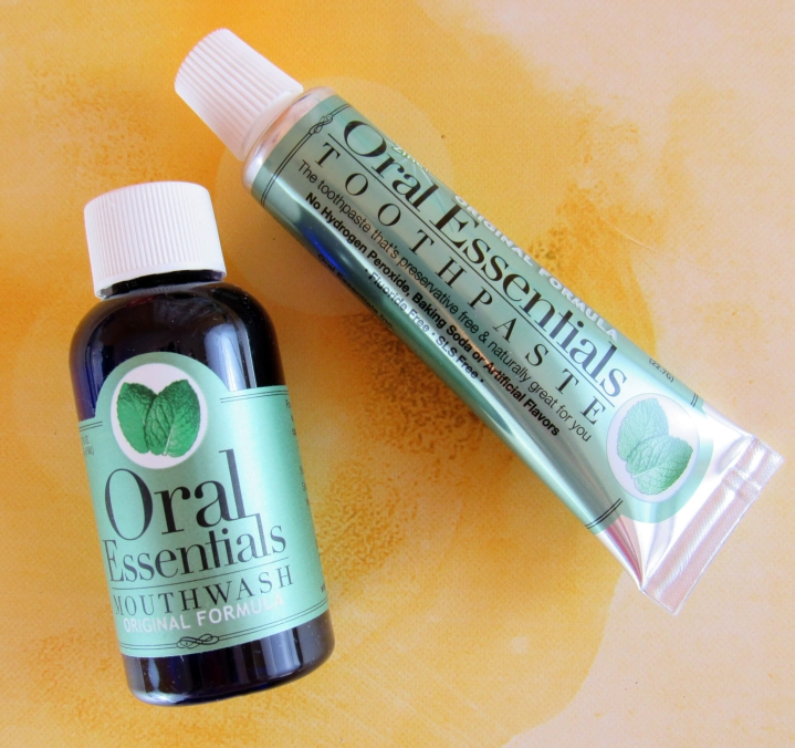 Oral Essentials Mouthwash and Toothpaste