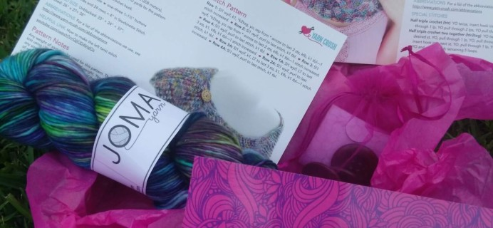 Yarn Crush Subscription Box Review & Coupon – August 2016