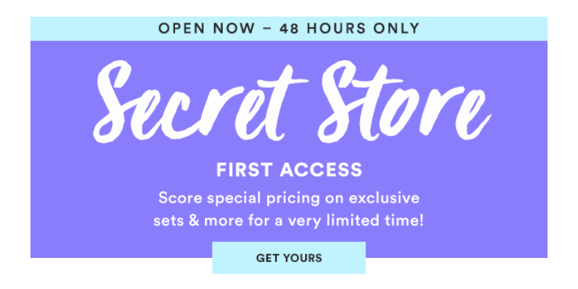 Julep September 2016 Secret Store Open   Coupons