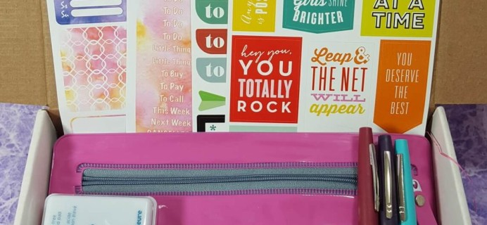 Planner Packs August 2016 Subscription Box Review & Coupon