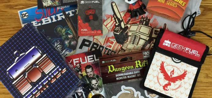 Geek Fuel August 2016 Subscription Box Review & Coupon