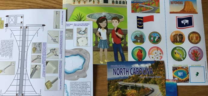 Little Passports USA September 2016 Subscription Box Review + Coupon – North Carolina & Wyoming