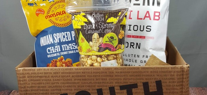 MOUTH: Popcorn Every Month Subscription Box Review – August 2016