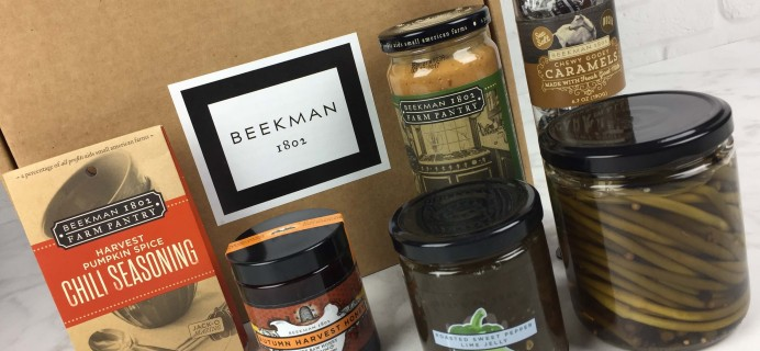 Beekman 1802 Specialty Food Club September 2016 Subscription Box Review