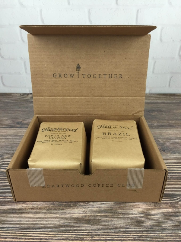 Heartwood Coffee Club September 2016 unboxing
