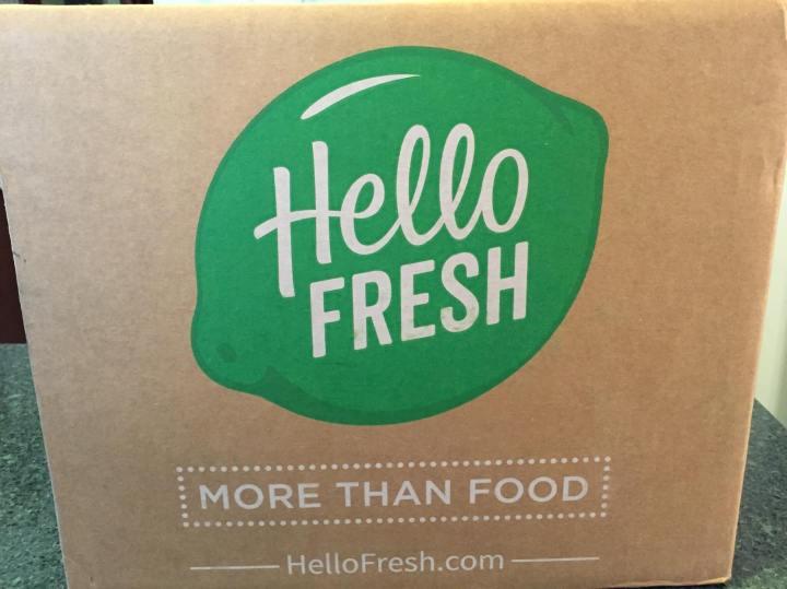 Hello Fresh Vegetarian August 2016 box