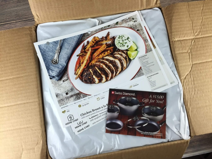 Home Chef August 2016 unboxing