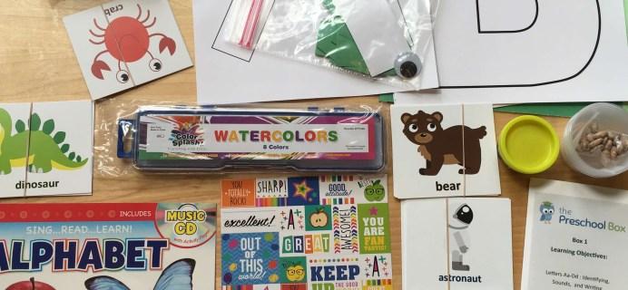 The Preschool Box October 2016 Subscription Box Review – Box 1
