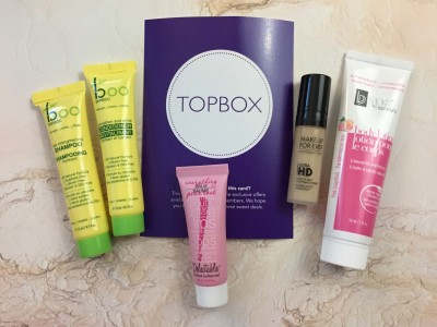 Topbox September 2016 Subscription Box Review