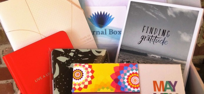 Journal Box Subscription Box Review + Coupon – September 2016