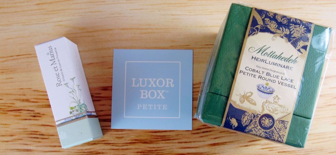 Luxor Box Petite Subscription Box Review – September 2016