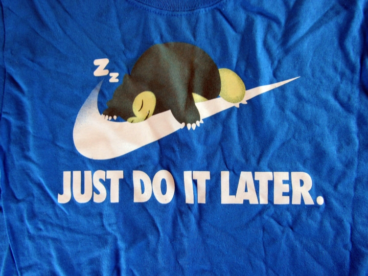 Super Geek Box Exclusive Just Do It Later T-Shirt